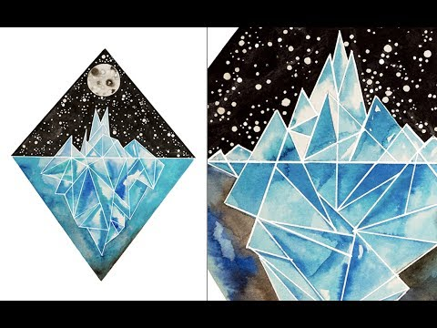 Geometric Iceberg Painting as seen on Kickstarter