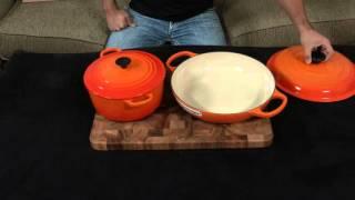Le Creuset — Braiser vs. Dutch Oven.