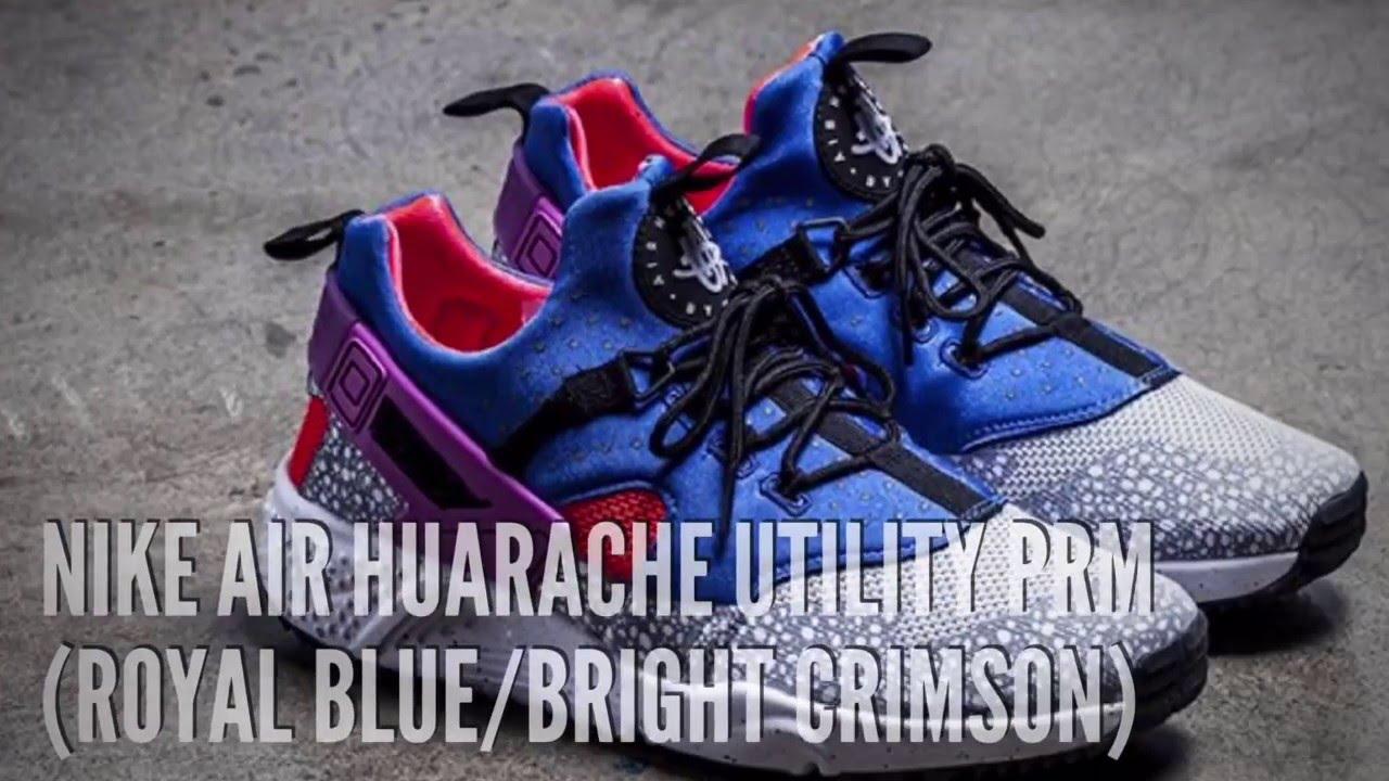 a6c08af706ec NIKE AIR HUARACHE UTILITY PRM (ROYAL BLUE BRIGHT CRIMSON)  SNEAKERS ...