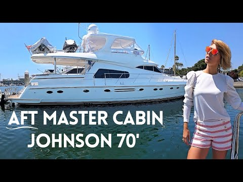 $799,000-2005-johnson-70'-aft-cabin-flybridge-motor-yacht-tour-liveaboard-boat-walkthough-&-specs