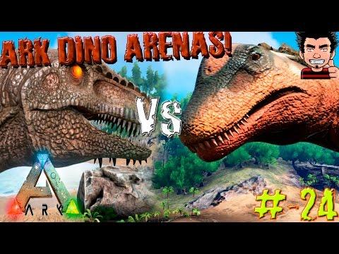 ARK Survival Evolved Titanosaur Vs Giganotosaurus Batalla Dinosaurio Arena gameplay español