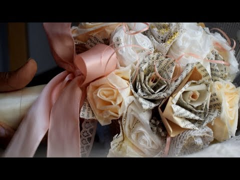 DIY Vintage Paper Posy Bouquet