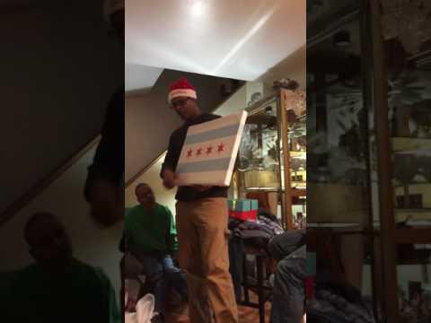 Henry giving Chicago flag lesson