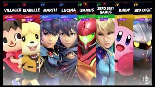 Super Smash Bros Ultimate Amiibo Fights   Request #1438 4 Team Battle at Halberd