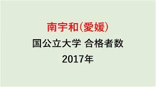 南宇和高校 大学合格者数 2017~2014年【グラフでわかる】