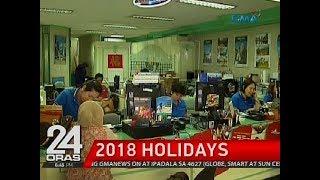24 Oras: 2018, mayroong 9 na long weekends dahil sa mga holiday