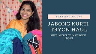 JABONG TRY-ON CLOTHING HAUL || STARTING Rs 244 || VANDANA SAHOO