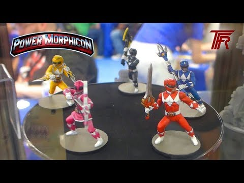 Power Rangers Heroes of the Grid Miniatures Display at Power Morphicon 2018 Kickstarter