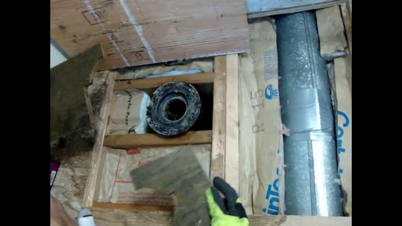 how to replace the sub floor under a toilet youtube