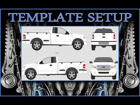 Vehicle Wrap Template Setup