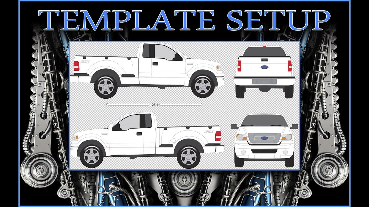 vehicle wrap template setup youtube