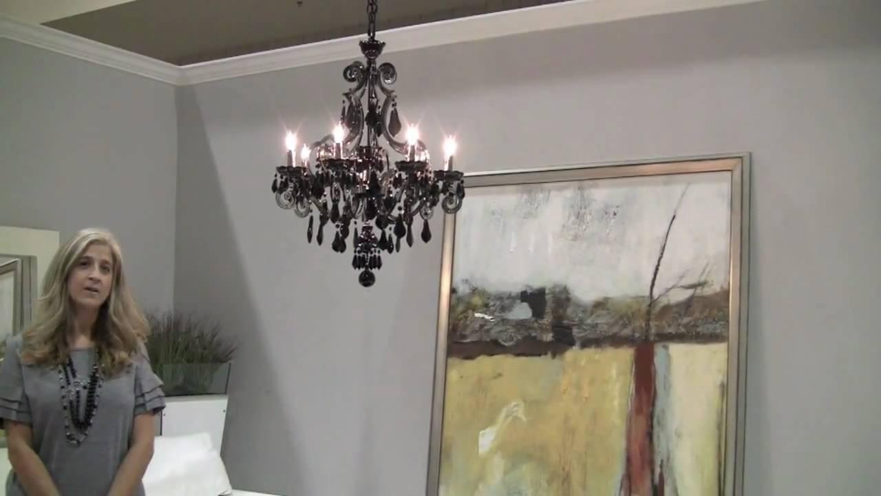Schonbek capella black crystal chandelier youtube mozeypictures Images