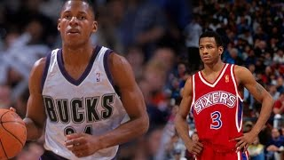 Allen Iverson vs Ray Allen NASTY Rookie Duel 1997.04.11 - Allen with 27 Pts, AI with 44 Pts,