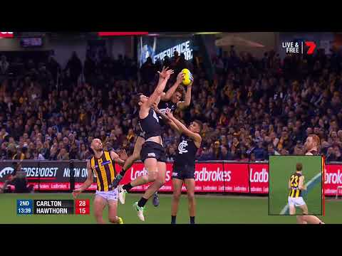 Round 22 AFL - Carlton v Hawthorn Highlights