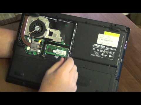 Как достать оперативную память из ноутбука