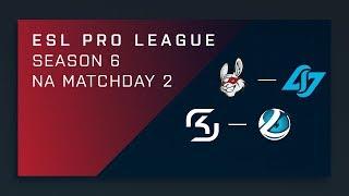 LIVE:Misfits vs. CLG | SK vs. Luminosity - Day 2 ESL Pro League S6 - NA Main Stream