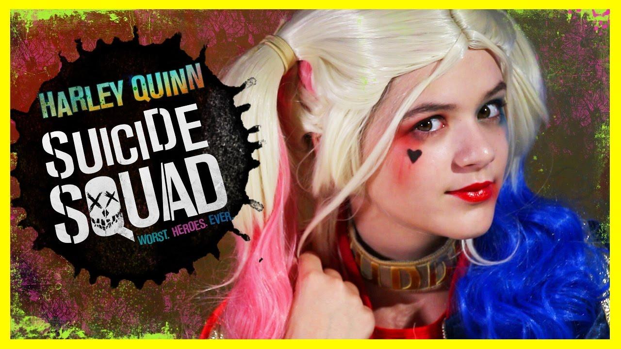 HARLEY QUINN Suicide Squad MAKEUP TUTORIAL! | DIY HALLOWEEN COSPLAY COSTUME | KITTIESMAMA - YouTube