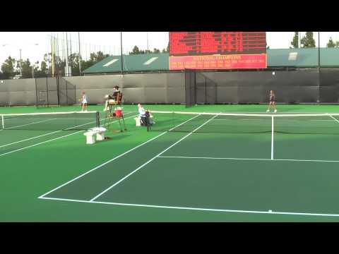 01 29 2010 USC Vs SD women's tennis singles 5 of