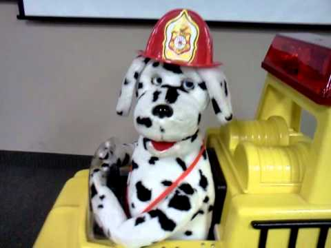 sparky the fire dog robot. sparky the fire dogoff his rocker dog robot