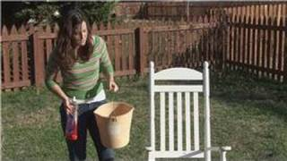 Housekeeping Tips : Caring For Outdoor Wood Furniture