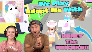 We Play Roblox Adopt Me With HONEY THE UNICORN!!