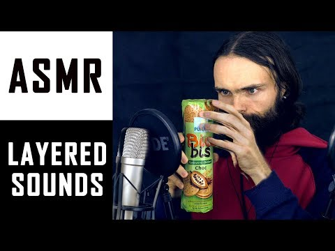 ASMR Layered Sounds, Tapping & Inaudible Whisper (and a few other relaxing sounds)