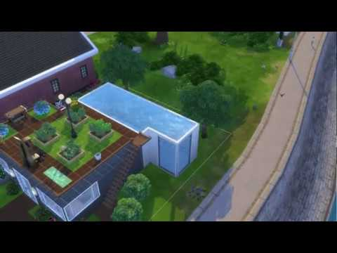 The Sims 4: How to make a pool on the second floor. - YouTube