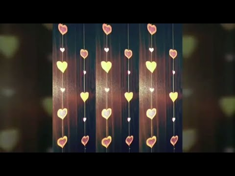 HOW TO MAKE A PAPER HEARTS GARLAND FOR PARTY DECORATION | DIY PAPER HEART CRAFTS