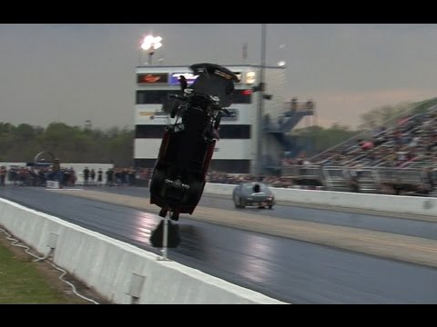 Watch 4,000-horsepower Corvette take flight in 200 mph wheelie