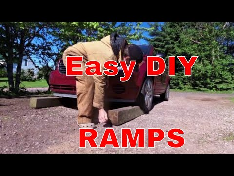 How to make homemade car ramps - for car repair and maintenance