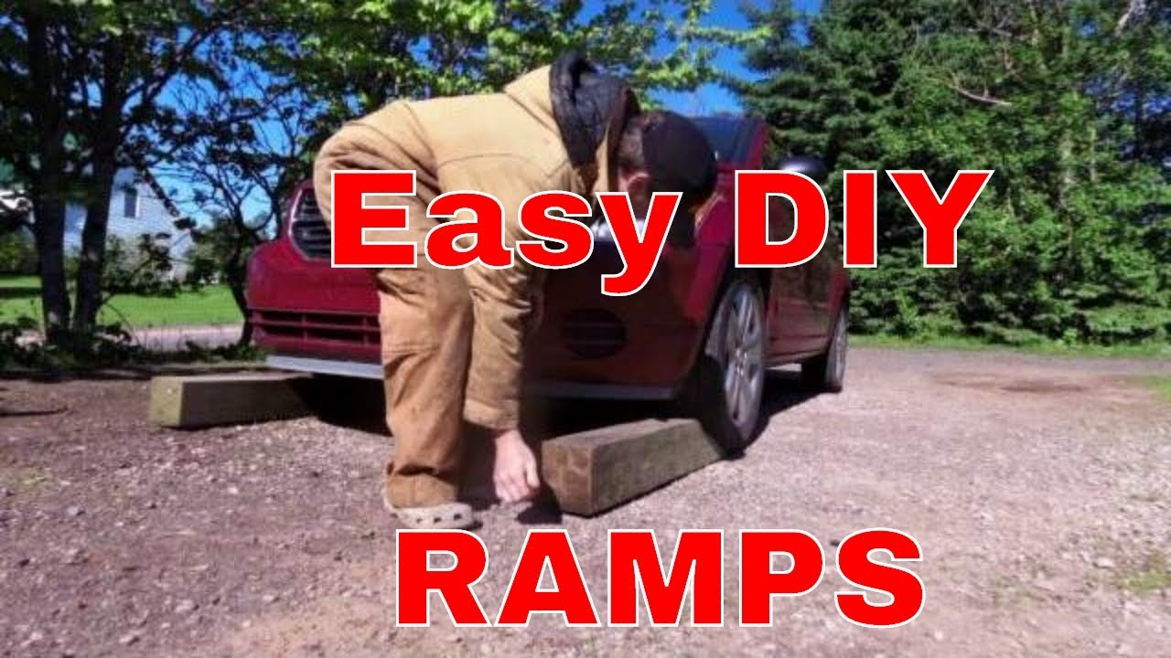 Diy car service ramps 15