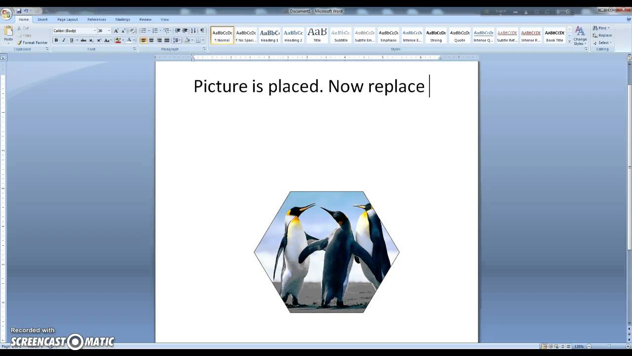 Ms Word Tutorial How To Insert A Picture Into A Shape Youtube