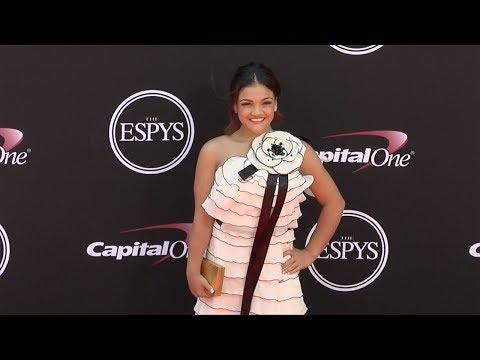 Laurie Hernandez 2017 ESPY Awards Red Carpet
