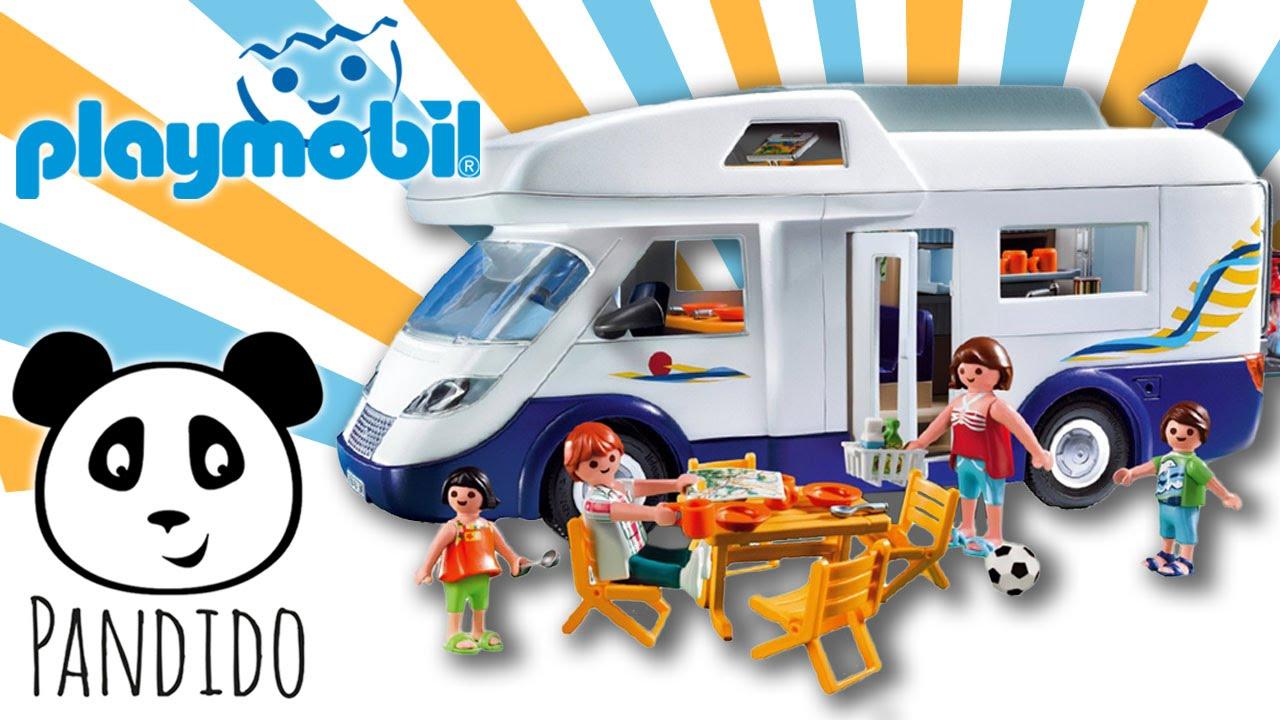 Playmobil juguetes espa ol caravana familiar set de for Autocaravana playmobil
