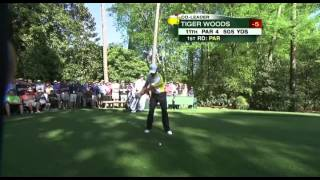 Tiger Woods Driver Swing Masters 2013 (caddie View)