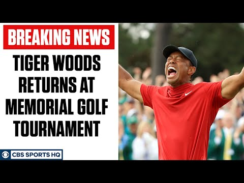 Tiger Woods IS BACK! Tiger Returns at the Memorial Golf Tournament   CBS Sports HQ