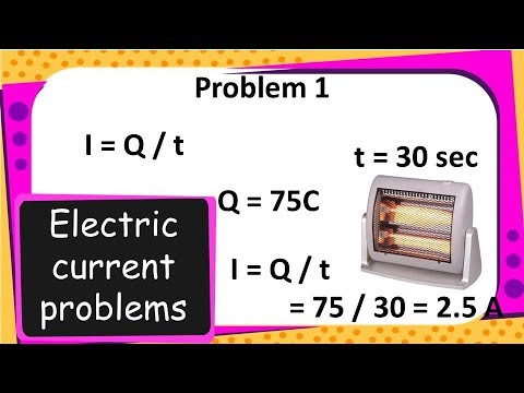 Physics - Electric current numerical problems - Electricity - Part 5 -  English