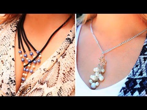 DIY Drop Pearl Necklace Ideas