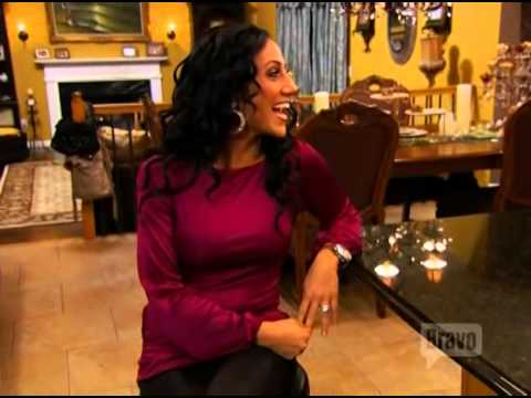 Melissa Gorga Real Housewives of New Jersey with Savee Couture chain top, Part 1