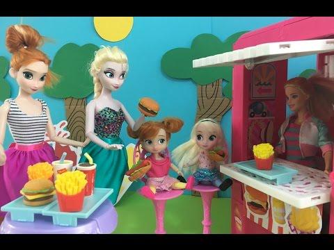 Disney Frozen Elsa & Barbie Dolls Movie Full in English! Disney Princess Dolls Episodes & Stories!