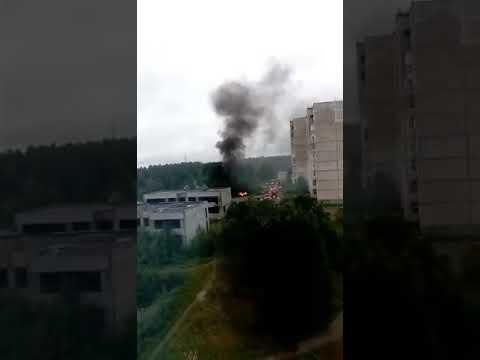В Оленегорске сгорел автомобиль