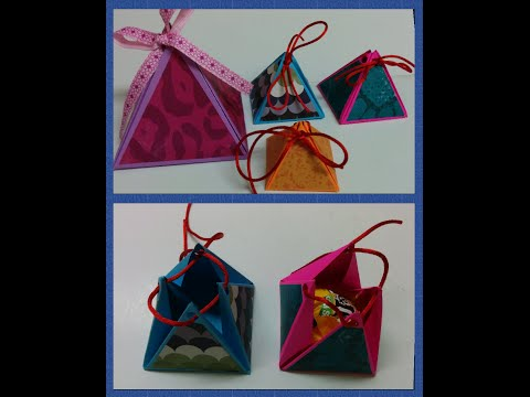 Art and Craft: How to make Pyramid gift box