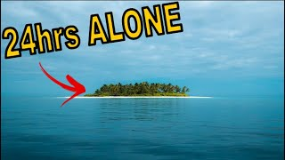 Surviving 24hrs Solo Oฑ A Deserted Tropical Island Beach - Making Fire - Cooking In A Coconut - ASMR