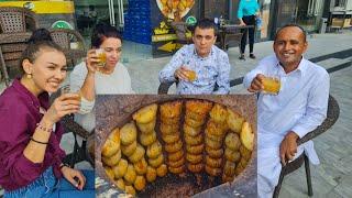 Somsa Uzbekistan Street Food | Uzbekistan Samosa | Tashkent Food Street | Mubashir Saddique