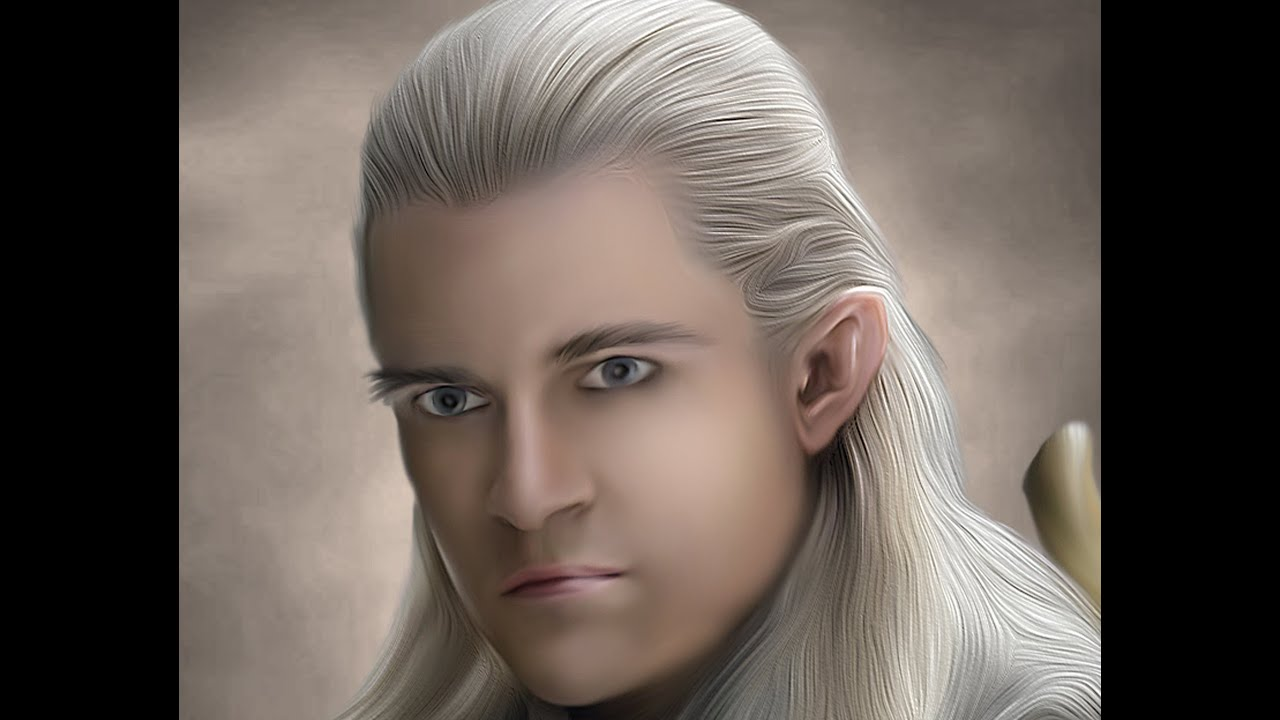 Soft Smudge Oil Painting Effect Legolas Adobe Photoshop