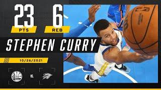 Steph Curry cooks Thunder for 23 PTS, 6 REB & 4 AST in W 🍿