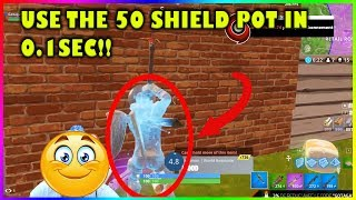 INSTANTLY USE THE 50 POT WITH NO USE TIME GLITCH!!! Fortnite highlights #192