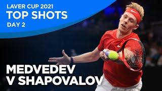 Medvedev V Shapovalov Top Shots   Day 2   Laver Cup 2021