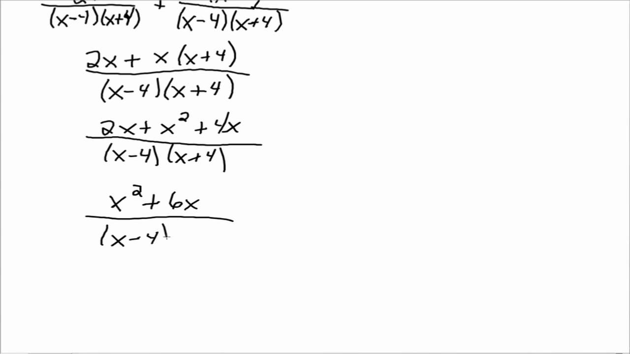add and subtract rational expressions with different denominators part 2 youtube - Adding And Subtracting Rational Expressions Worksheet