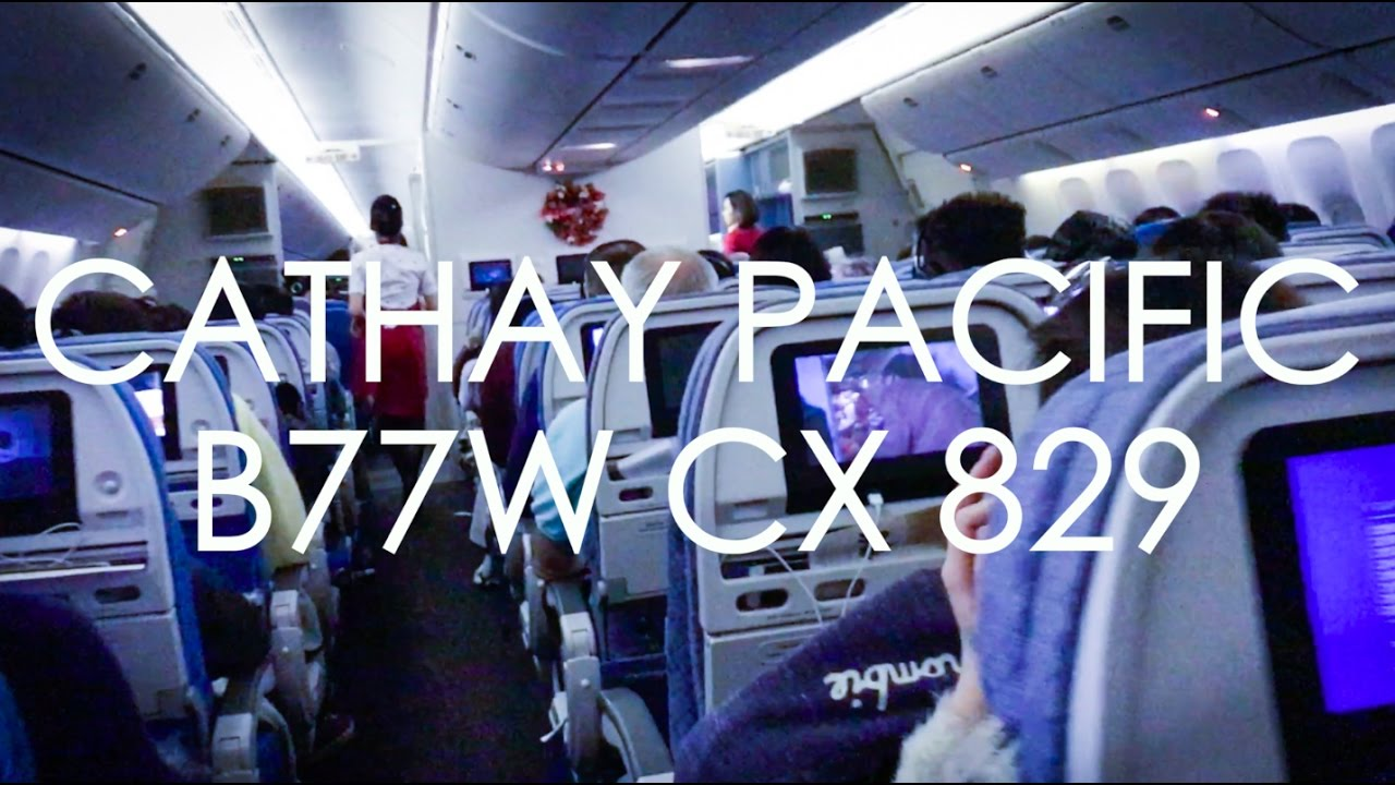 cathay pacific cx837 seat map Cathay Pacific Cx829 B77w Economy Toronto Hong Kong Youtube cathay pacific cx837 seat map